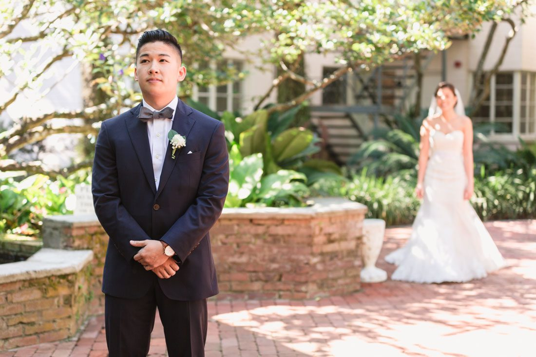 Top Orlando wedding photographer captures rustic chic DIY wedding at the Holy Trinity Reception Center including traditional Vietnamese tea ceremony
