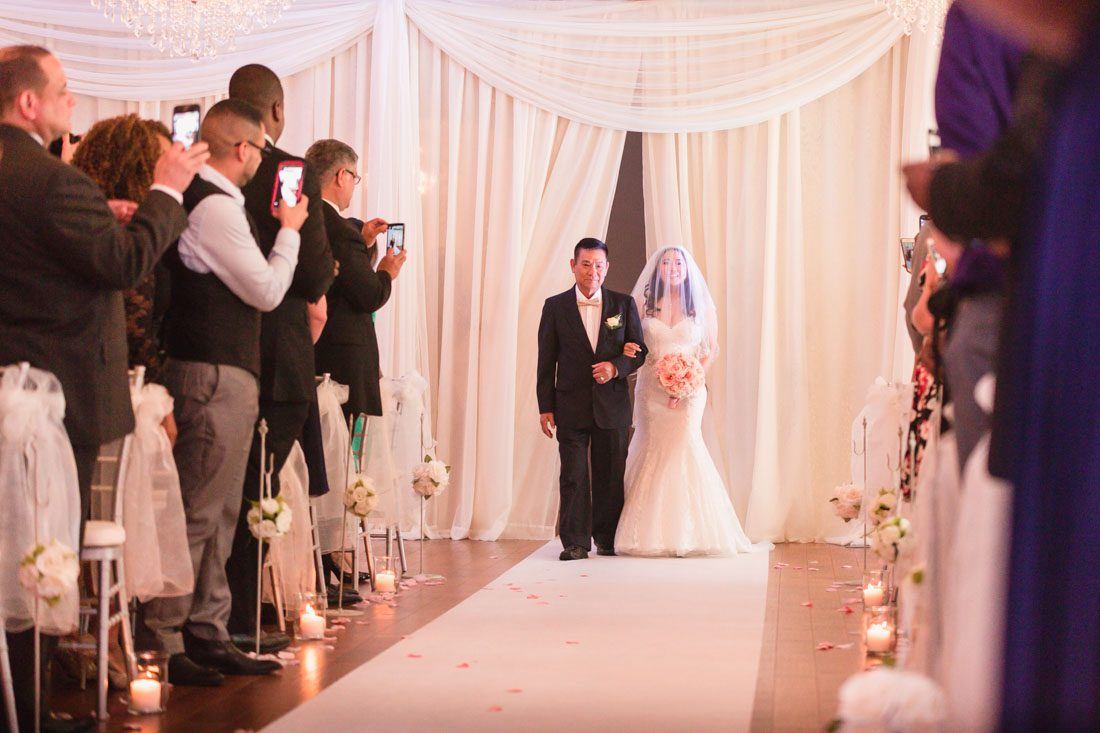 Top Orlando Wedding Photographer And Videographer Captures Blush Pink At Crystal Ballroom Veranda In Metro