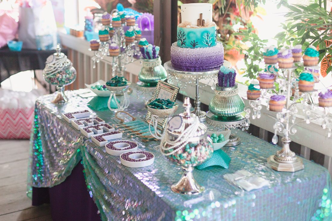under the sea mermaid themed baby shower photography at paradise cove