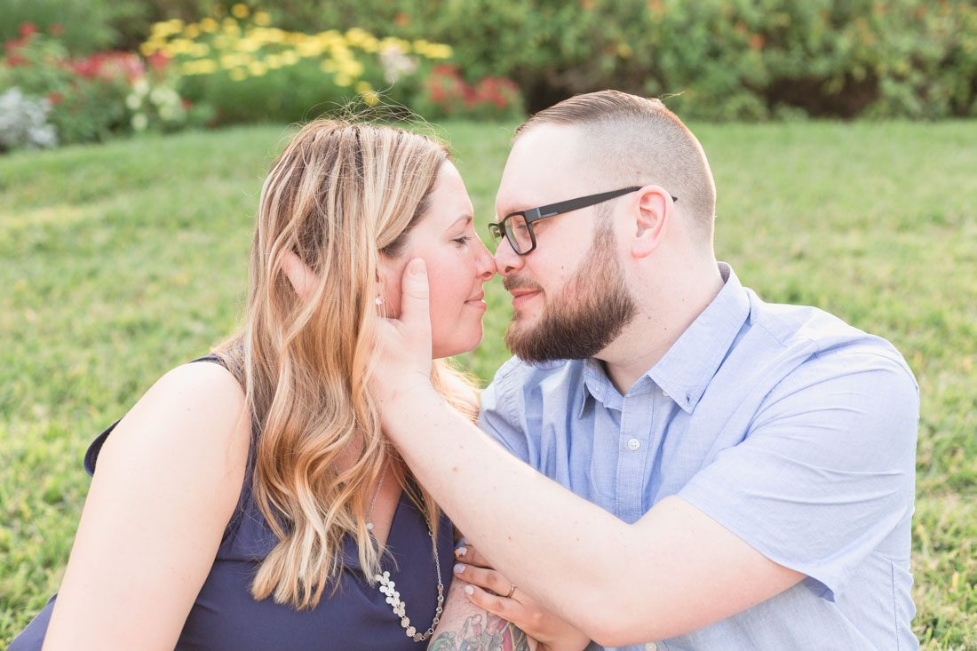 Romantic engagement photo taken at DIsney resort by Orlando wedding photographer