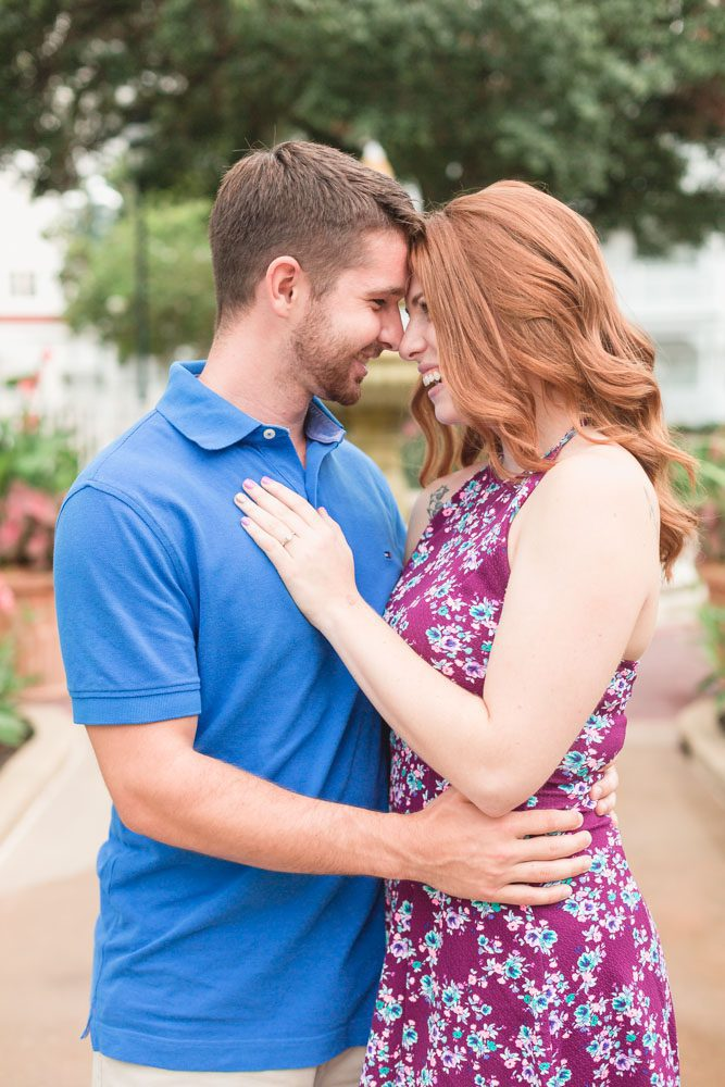 Engagement photo shoot at Disney's Grand Floridian Resort captured by top Orlando wedding and engagement photographer