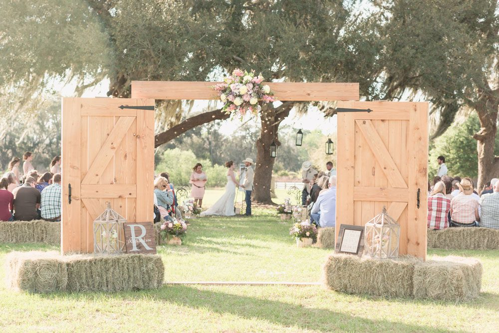 Chic country inspired wedding at a farm style barn in Central Florida captured by top Orlando wedding photographer
