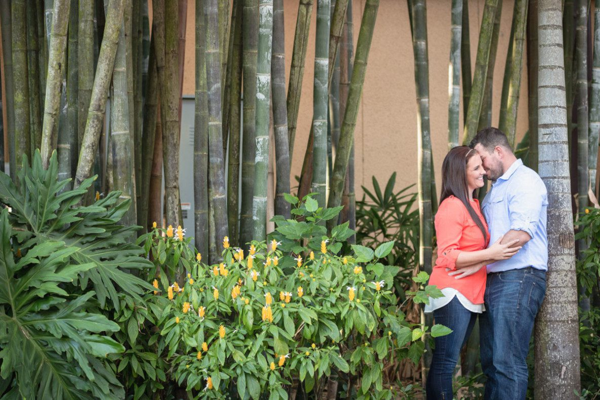 Engagement session with dogs in Winter Park and wine room by top Orlando photographer