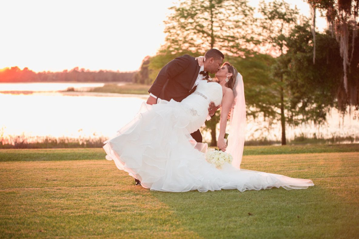 Intimate Lake Mary events center wedding by top Orlando wedding photographer