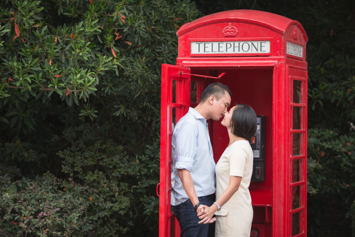 Disney Epcot park engagement session by top Orlando wedding photographer