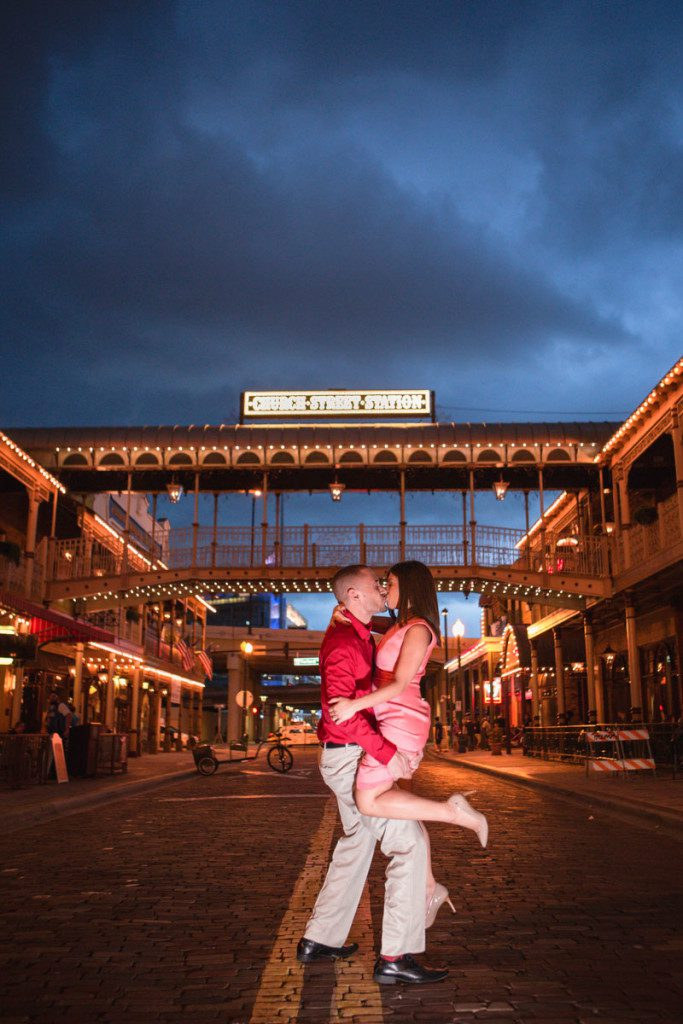 Downtown Orlando Engagement session photography by best Orlando wedding photographer