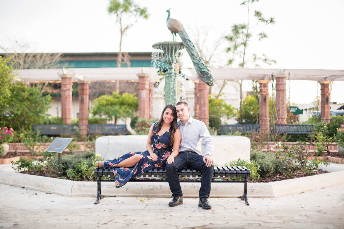 Rollins College Winter Park Engagement Session by best Orlando wedding photographer