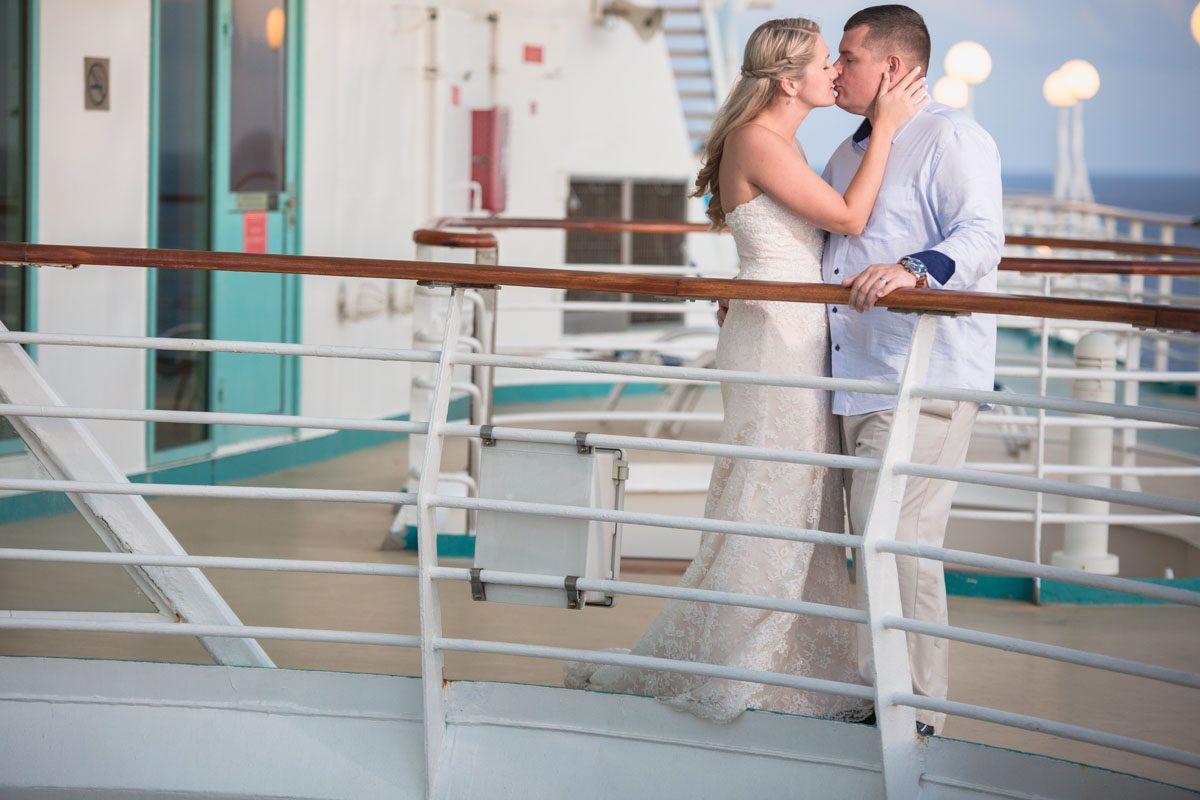 Bahamas destination cruise wedding by top Orlando wedding photographer to the Caribbean