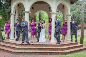 Beautiful purple themed wedding at the Estate on the Halifax in Port Orange captured by the best Orlando wedding photographer