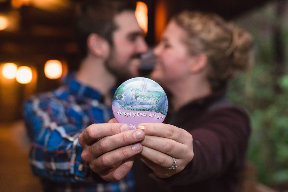 Surprise proposal and engagement captured by top Orlando wedding photographer at Disney's Fort Wilderness Resort