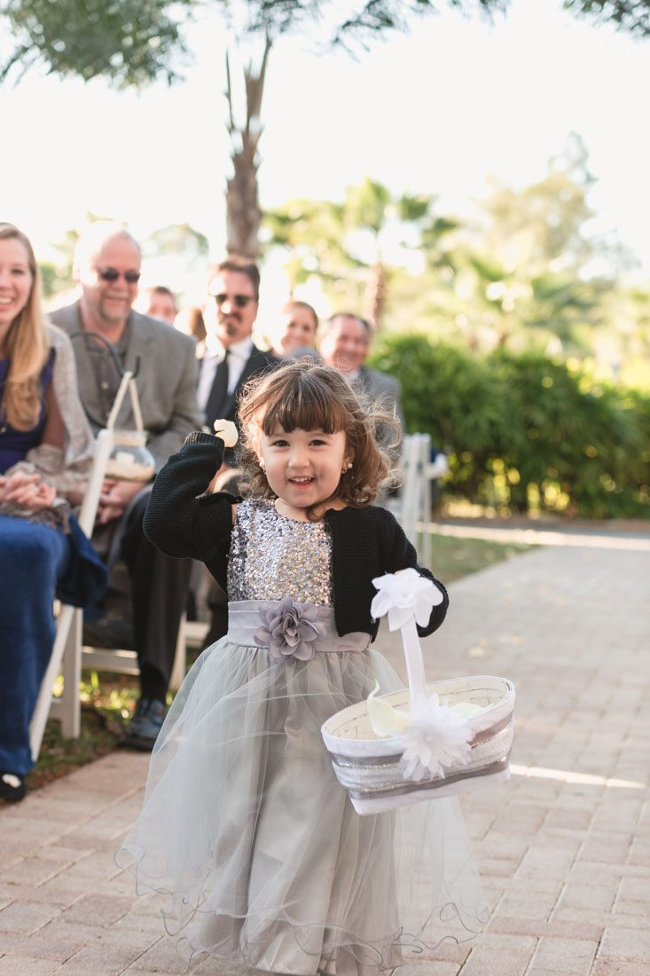 Top Orlando wedding photographer captures beachy outdoor wedding on the lake at Paradise Cove