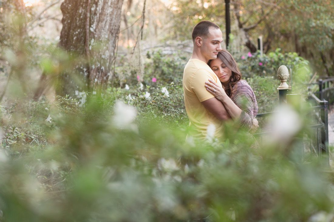 Orlando engagement session at Dickson Azalea Park in downtown Orlando by top wedding photographer & videographer