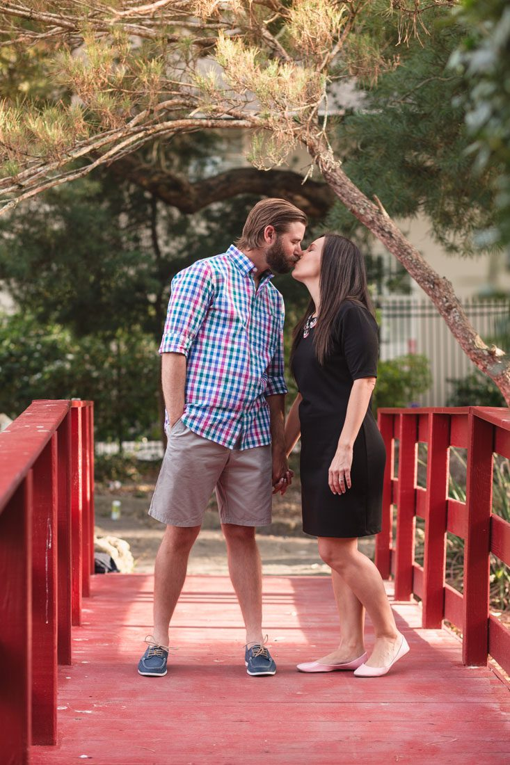 Orlando wedding photographer captures engagement session at Lake Eola in downtown Orlando