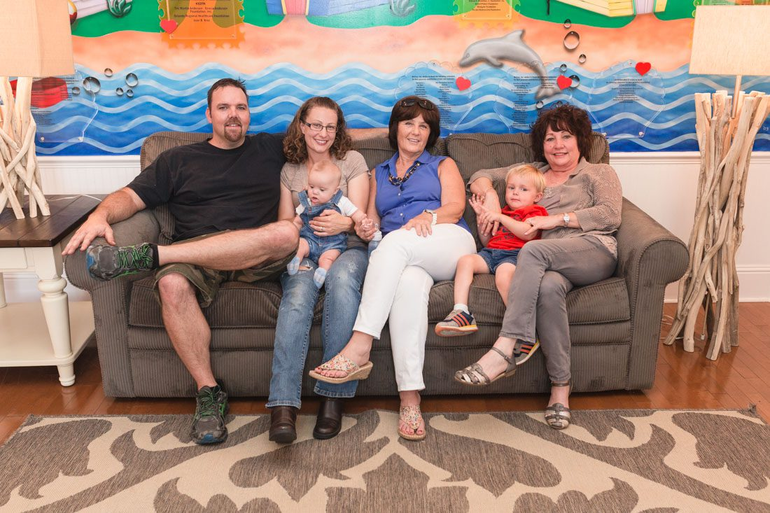Fun family photography session at the Ronald McDonald House by top Orlando wedding photographer