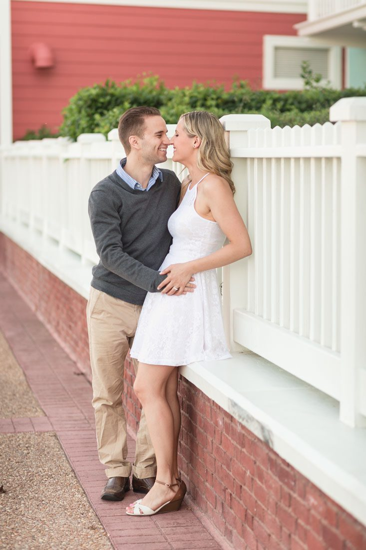 Playfun engagement session at Disney's boardwalk by top Orlando wedding photographer