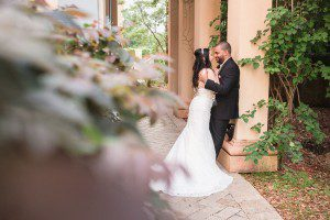 Top Orlando wedding photographer and videographer captures blush pink wedding at Crystal Ballroom Veranda in metro west