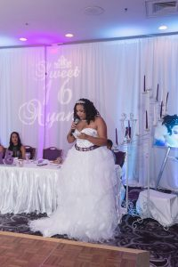 Winter themed sweet sixteen at the Castle Hotel captured by Orlando wedding photographer