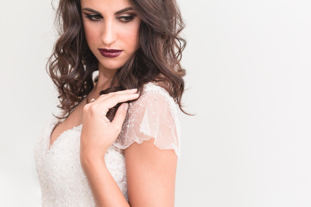 Top Orlando wedding photographer captures Bridal fashion editorial photography for One & Only wedding salon in downtown Orlando