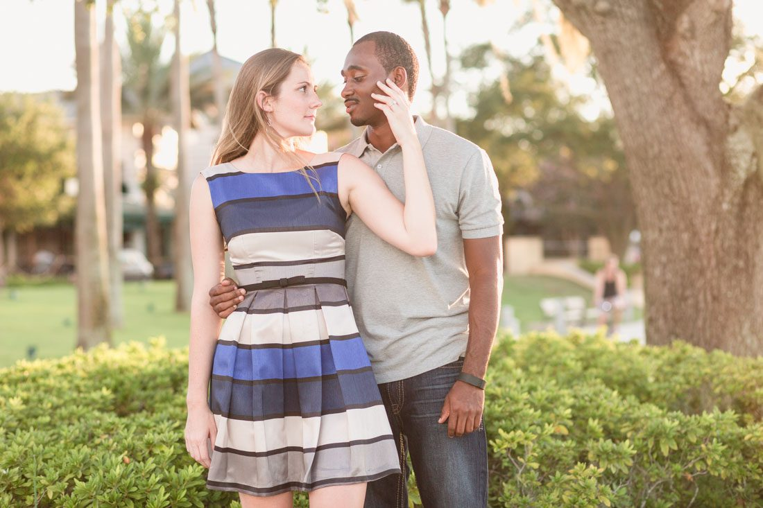 Engagement session photography by top Orlando wedding photographer in Baldwin Park