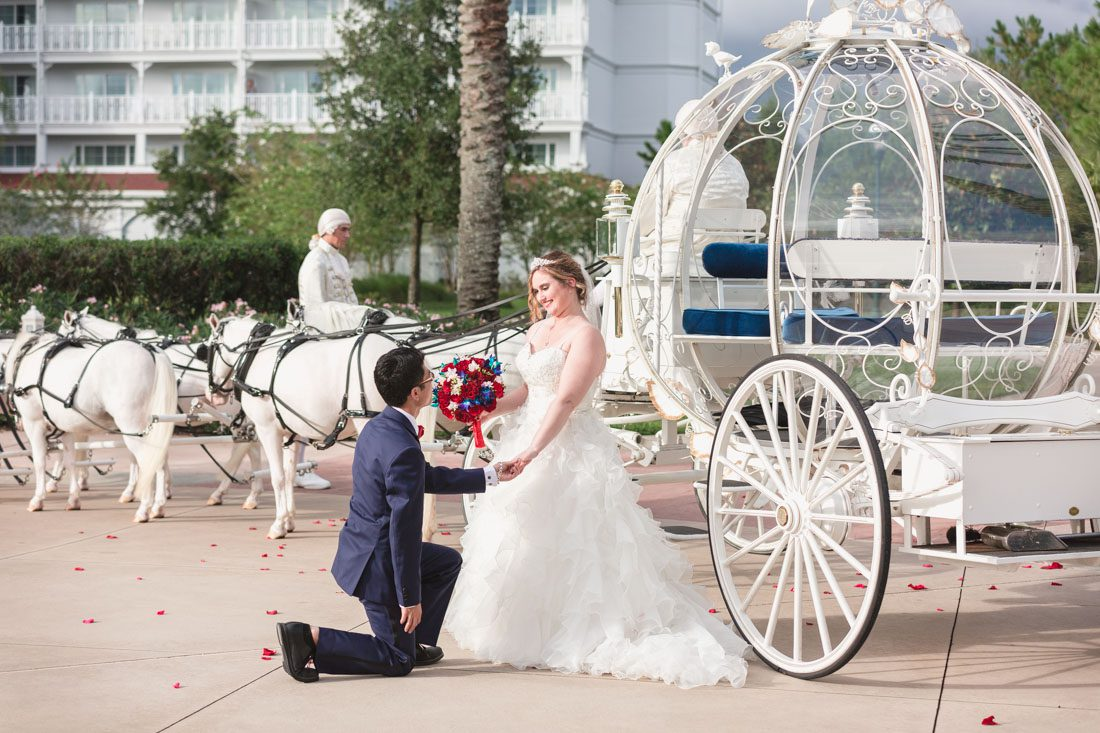 Disney Wedding In Orlando Featuring Cinderella S Coach And A Beauty The Best Theme Captured