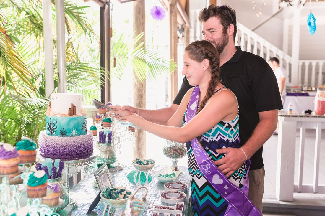 Under the sea Mermaid themed baby shower photography at Paradise Cove by top Orlando event and family photographer