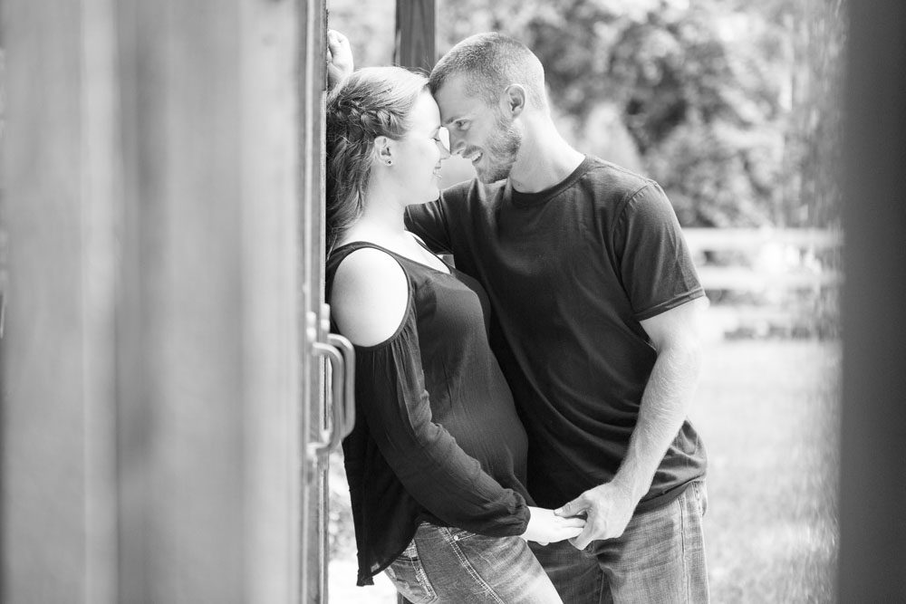 Country rustic engagement session at a barn by top Orlando wedding & engagement photographer