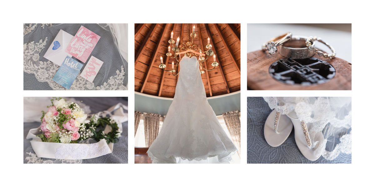 Sample album spread of wedding details from Orlando photographer and videographer