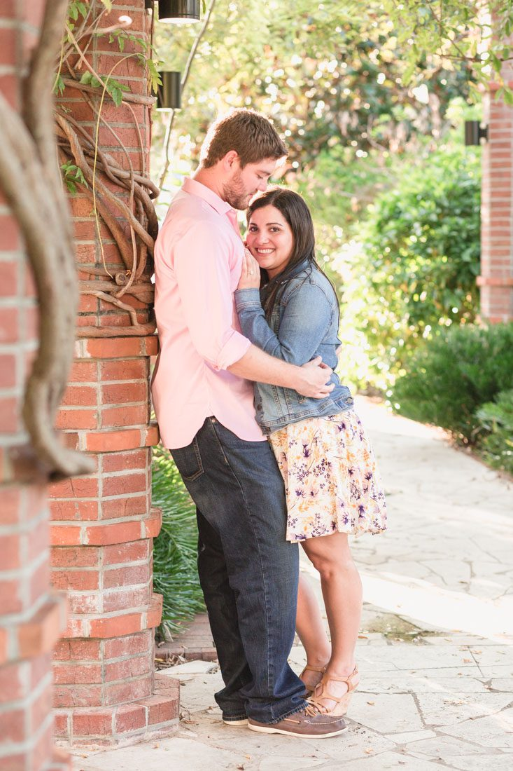 Top Orlando engagement and proposal photographer captures proposal at rose garden in Winter Park