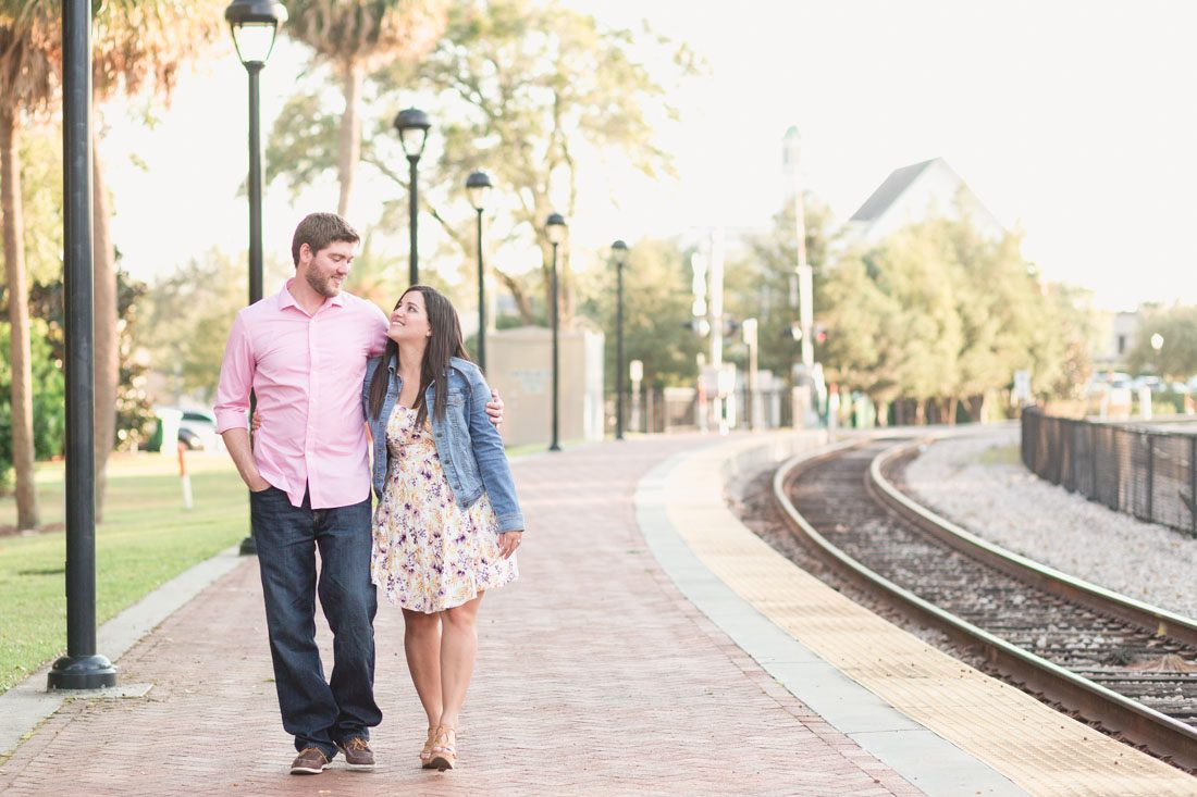 Romantic surprise proposal photography by top Orlando wedding and engagement photographer