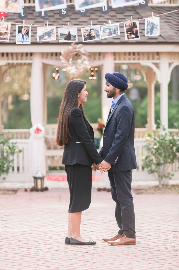 Top Orlando wedding photographer captures a surprise engagement at Port Orleans resort in Disney
