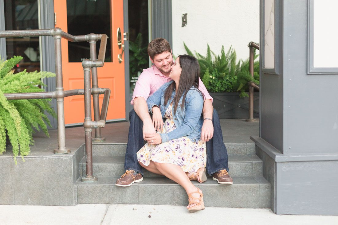 Proposal photographer from Orlando captures romantic surprise proposal in Winter Park rose garden