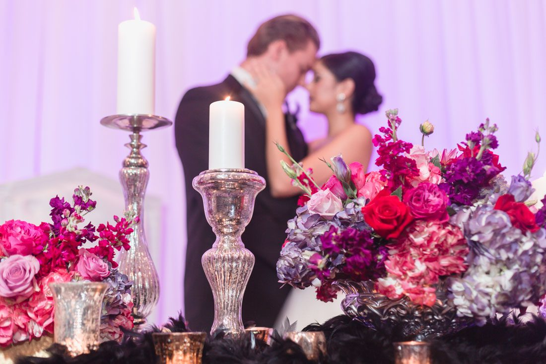 Dark purple, pink and blush themed ballerina wedding at the Castle Hotel captured by top Orlando wedding photographer