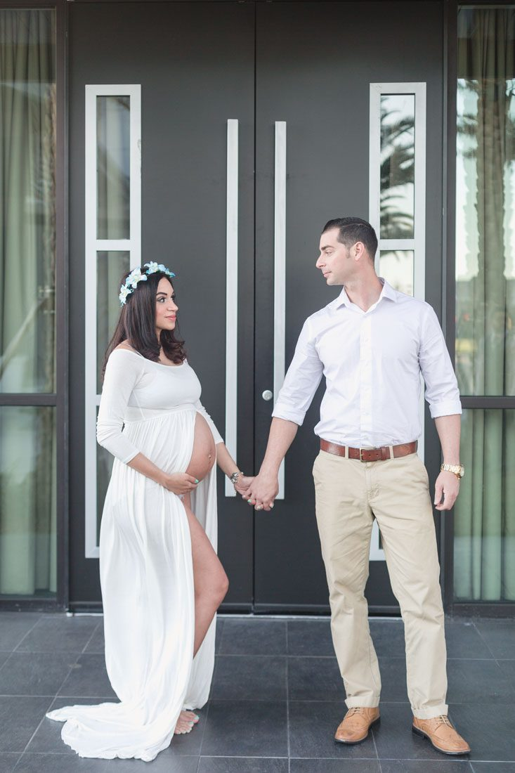 Couples maternity photography session at Lakehouse in Lake nona by Orlando photographer