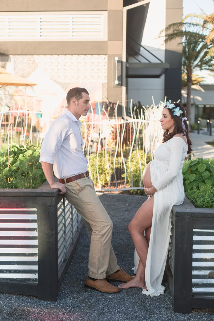 Maternity photography session in the garden at Canvas in Lake Nona by top Orlando photographer