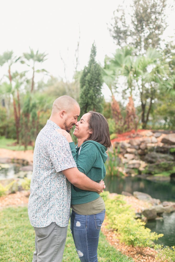 Couples portraits after their surprise proposal by top Orlando engagement photographer