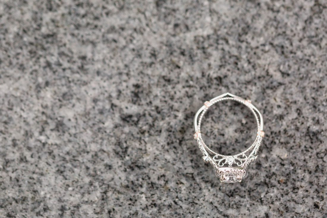 This engagement ring is a piece of art