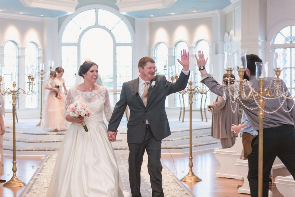Wedding ceremony at Disney wedding pavilion in Orlando by top photographer