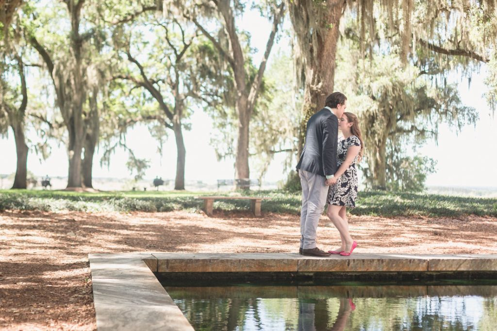 Romantic proposal and engagement session at Bok Tower by top Orlando wedding photographer