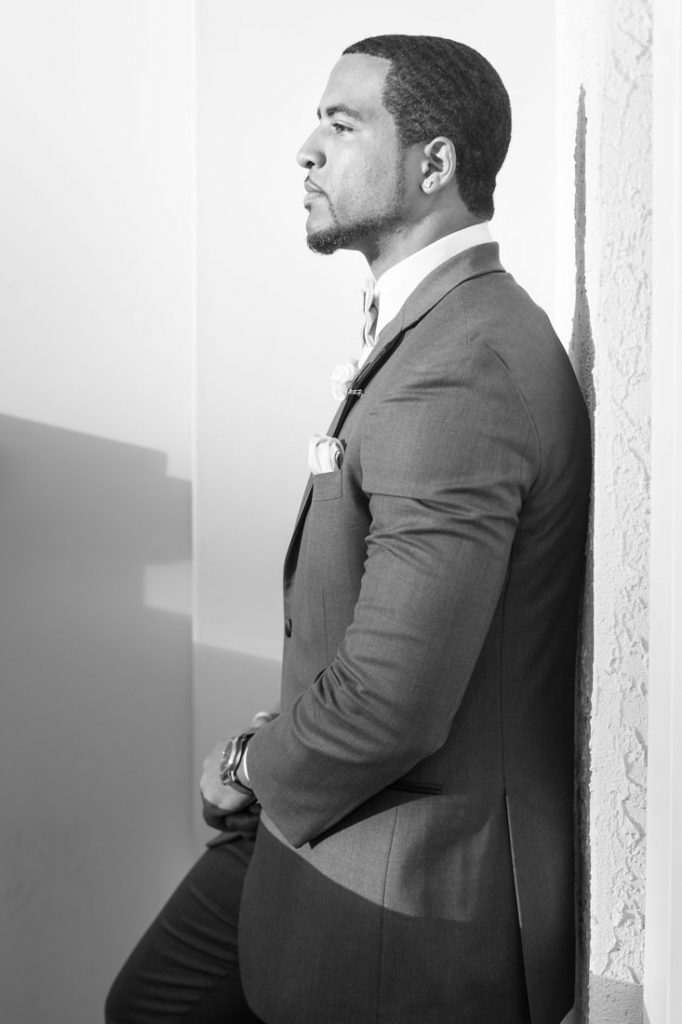 Groom before his Gaylord Palms wedding ceremony