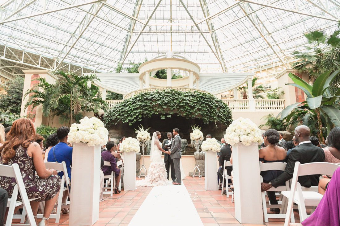 Scenic view of the atrium at the Gaylord Palms for Orlando wedding