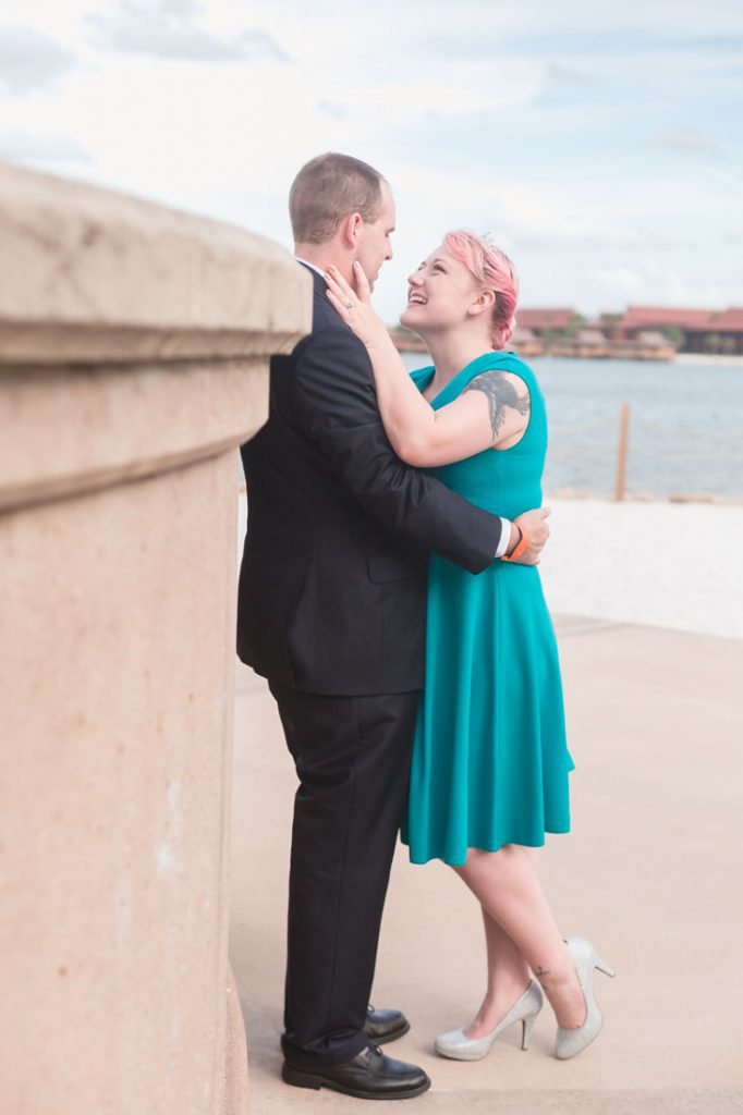 Romantic engagement session at the Grand Floridian in Orlando by top wedding photographer