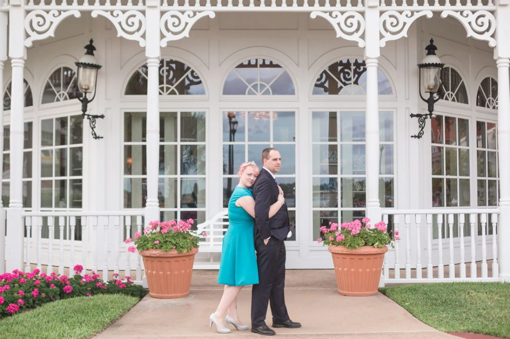 Sweet and candid engagement photography at a Disney Resort in Orlando, Florida