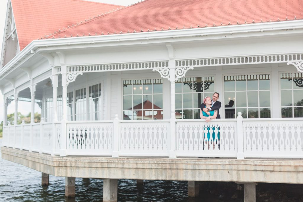 Engagement photography session at the Grand Floridian Resort a favorite from Orlando wedding photographer to take engagement photos