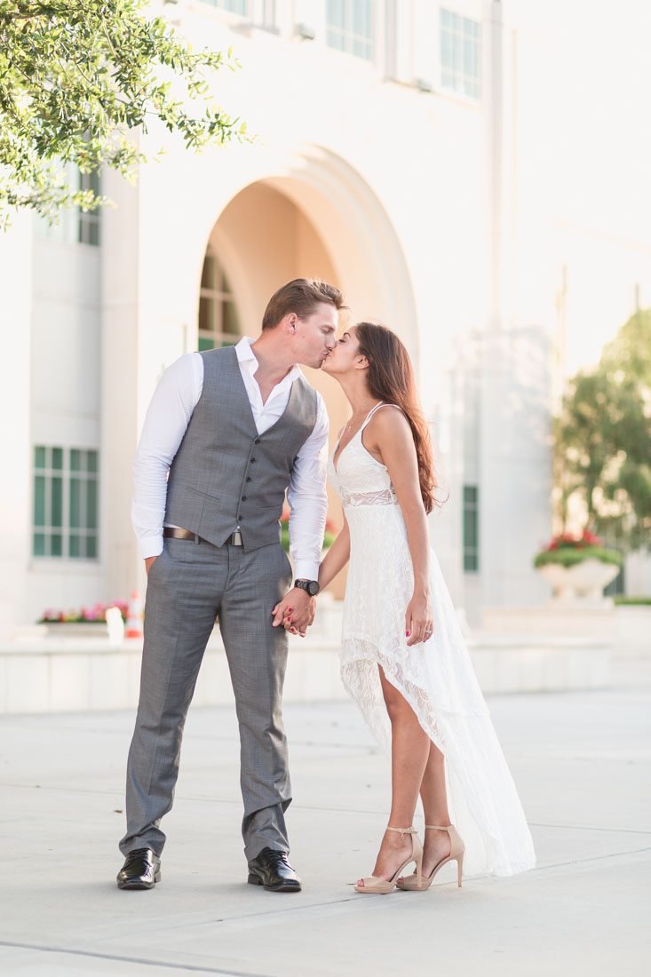 Engagement photography shoot in vintage historic winter garden in by top Orlando wedding photographer