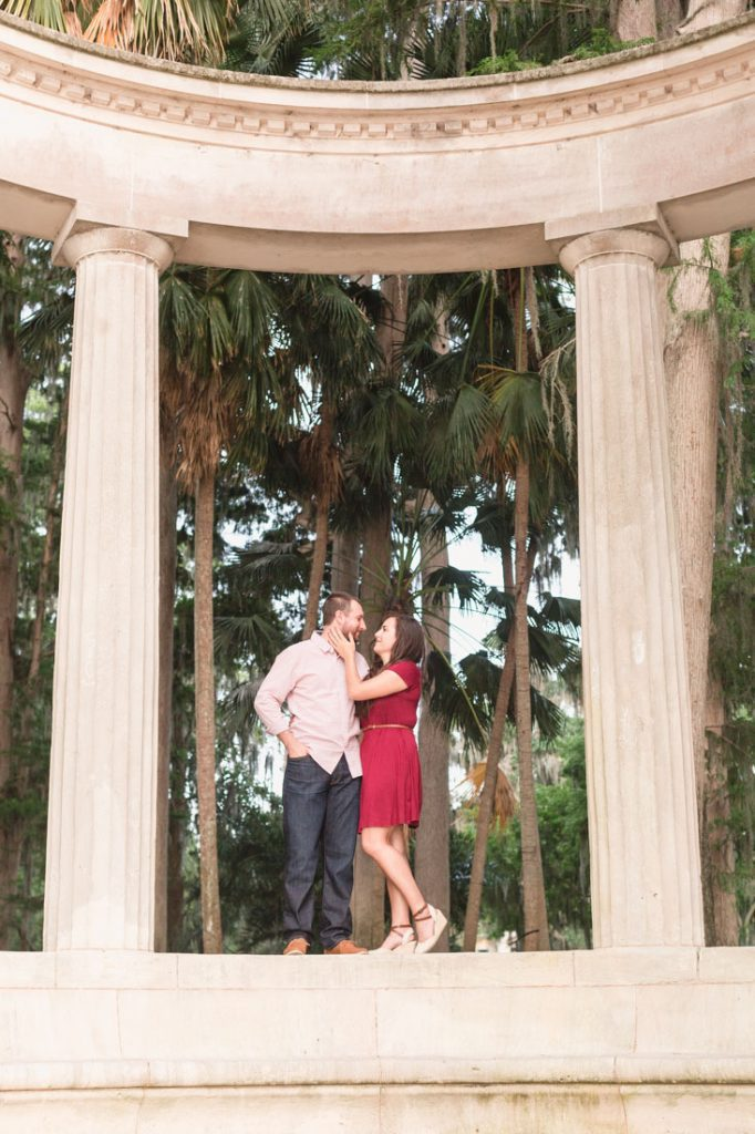 Romantic and fun engagement session at Kraft Azalea gardens in Winter Park just north of Orlando by top engagement and proposal photographer