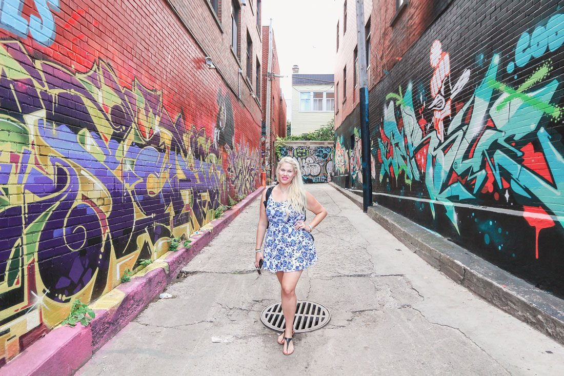 Graffiti lined alley ways in Montreal Canada during our Summer vacation captured by top Orlando photographer