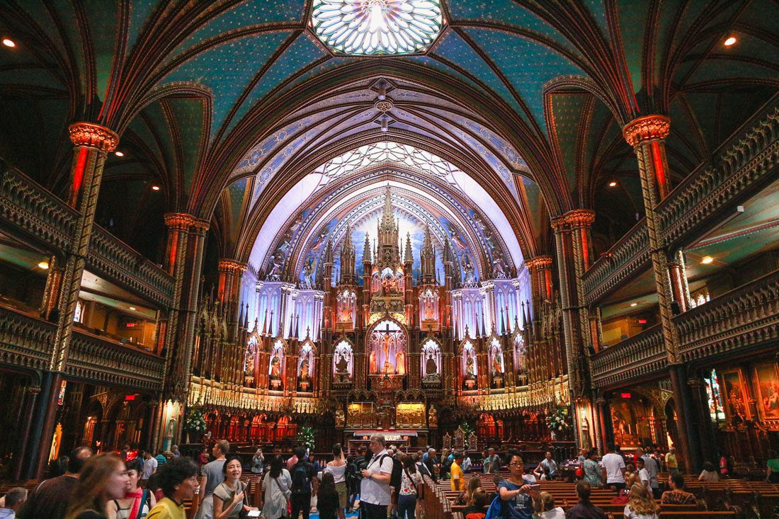 The Notre Dame Basilica in Canada captured during my Summer vacation