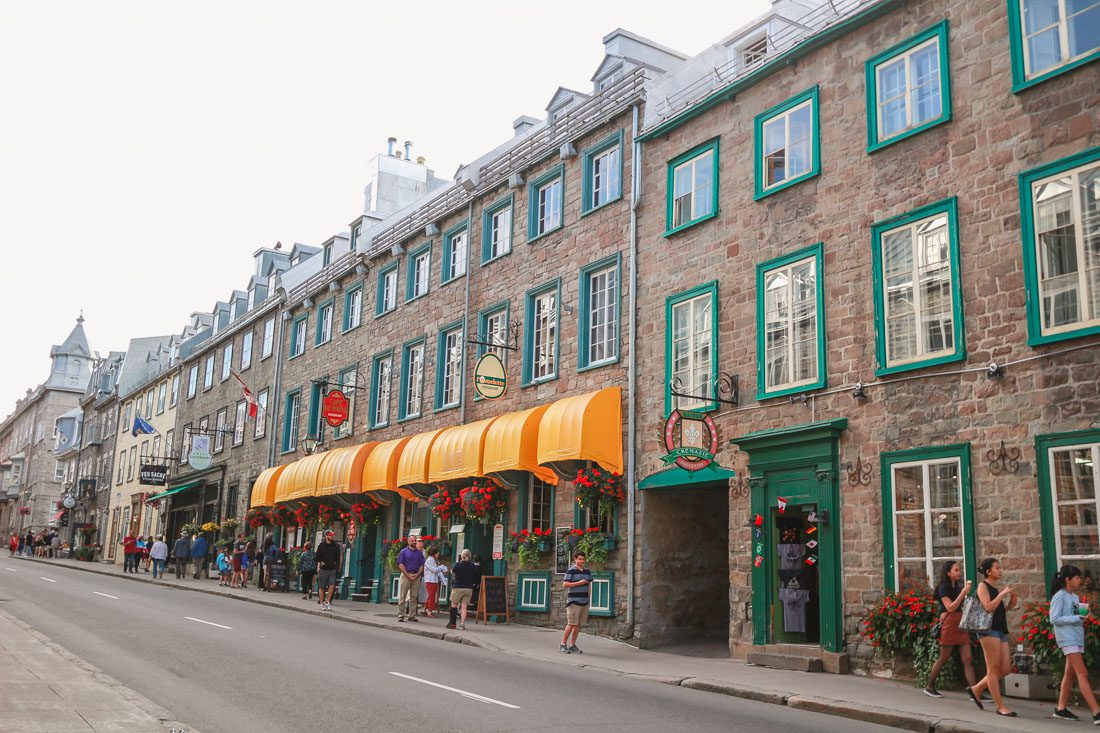 Beautiful European inspired architecture in Old Quebec, Canada during my travel photography adventures