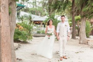 Orlando wedding photographer captures beach tropical ceremony at Paradise Cove