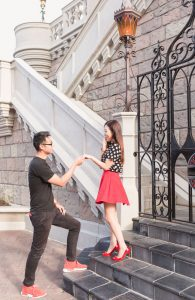 Sweet engagement wedding anniversary photography shoot by top Orlando photographer at Disney World
